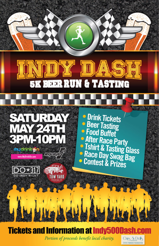 Indy Dash 5K Beer Run, May 24