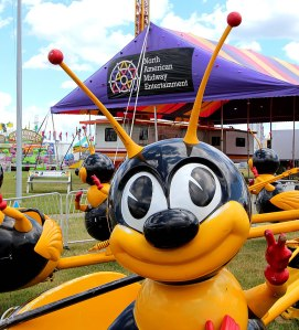 Amusement ride at the Marion County Fair.