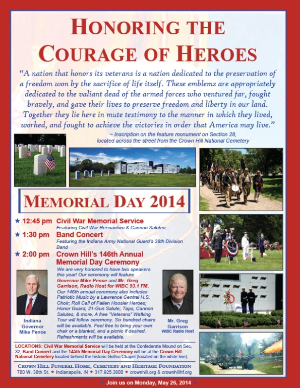 Memorial Day at Crown Hill Cemetery