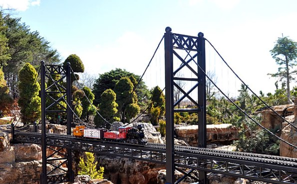 Railway Garden at Taltree Arboretum and Gardens in Valparaiso.