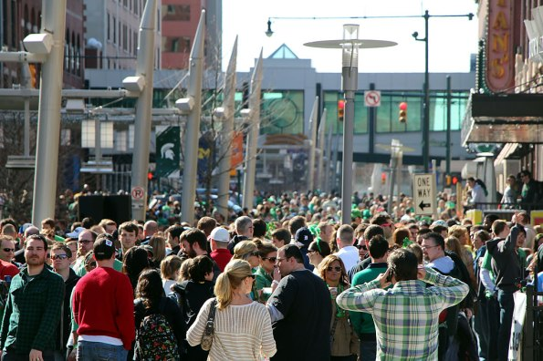 Blarney Bash on Georgia Street in downtown Indianapolis.