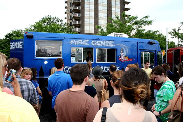 Mac Genie waiting line in 2012.